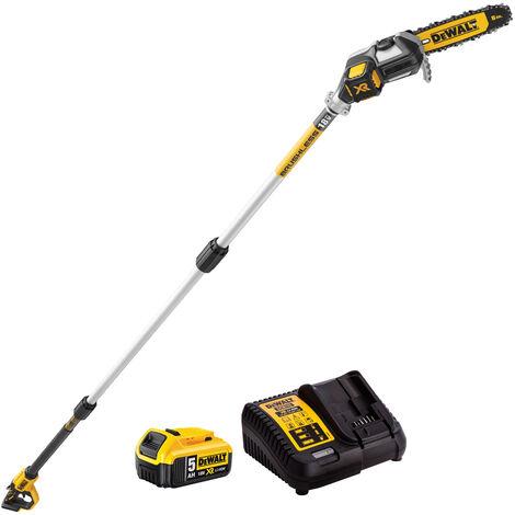 Dewalt DCMPS567P1 18V Li-ion Brushless Pole Saw Kit 1 x 5.0Ah Battery & Charger:18V