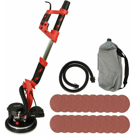 Excel 800W Electric Drywall Sander with 225mm Sanding Sheet Pack of 20
