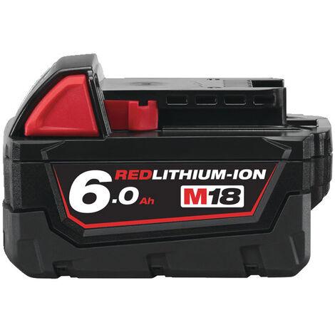 Milwaukee M18B6 18V Genuine 6Ah Red Lithium-Ion Battery