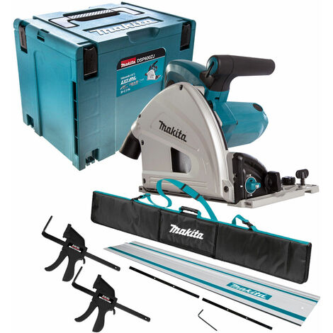Makita SP6000J1 110V 165mm Plunge Saw with 1 x Rails, Connector Bar, Clamp & Bag