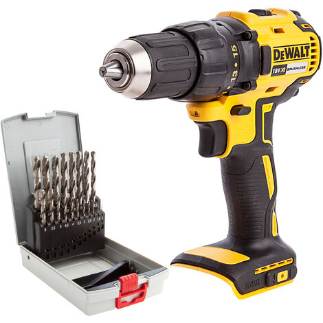 Dewalt DCD777N 18V Brushless Combi Drill with 19 Piece HSS-G Metal Drill Bit Set