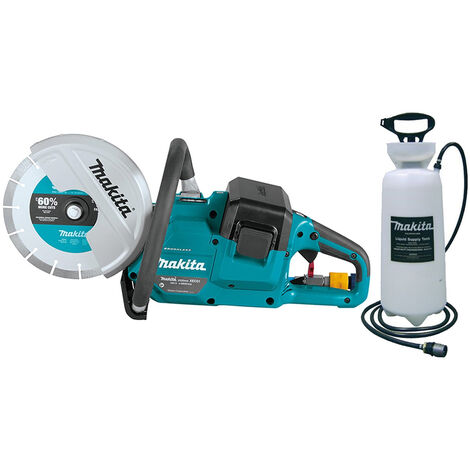 """Makita DCE090ZX1 18V X 2 230mm 9"""" Brushless Disc Cutter Body With P-54047 Water Supply Tank:18V, Brushless"""