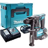 Makita DHR171Z 18V SDS+ Brushless Hammer Drill with 2 x 5.0Ah Batteries & Charger in Case:18V