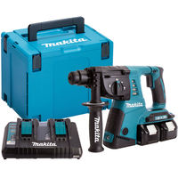 Makita DHR263ZJ 36V SDS+ Rotary Hammer Drill with 2 x 5.0Ah Batteries & Charger in Case