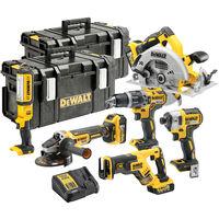 Dewalt DCK623P3 18V Brushless 6 Piece Kit 3 x 5.0Ah Batteries With Charger & 2 x Kit Boxes