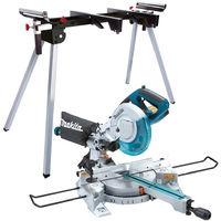 Makita LS0815FLN 240V 216mm Sliding Compound Mitre Saw Laser Light With Leg Stand:240V