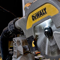 Dewalt DWS777-LX 216mm XPS Crosscut Sliding Compound Mitre Saw 1800W 110V With Leg Stand