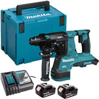 Makita DHR280ZJ 36V Brushless SDS+ Rotary Hammer Drill with 2 x 5.0Ah Batteries & Charger in Case:18V