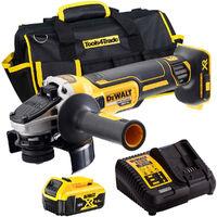DeWalt DCG405N 18V Brushless 125mm Angle Grinder with 1 x 5.0Ah Battery & Charger in Case