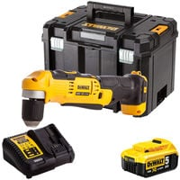 Dewalt DCD740N 18V Right Angle Drill with 1 x 5.0Ah Battery & Charger in TSTAK:18V