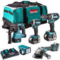 Makita 18V Brushless 5 Piece Cordless Kit 3 x 5.0Ah Batteries & Charger T4TKIT-832:18V