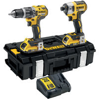 Dewalt DCK266D2 18V Brushless Twin Kit with 2 x 2.0Ah Batteries & Charger in TSTAK Box