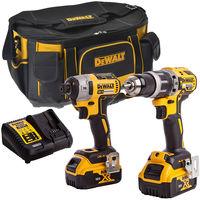 Dewalt DCK266D2-1 18V Brushless Twin Kit with 2 x 4.0Ah Batteries & Charger in Bag