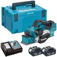 Makita DKP181RTJ 18V LXT Brushless Planer with 2 x 5.0Ah Batteries Charger & Case
