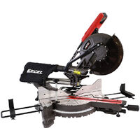 """Excel 10"""" Compound Sliding Mitre Saw 255MM 2000w Double Bevel Laser Cut Extra 60T Blade"""
