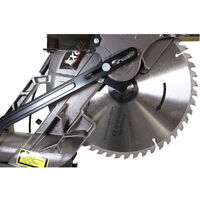 Excel 255mm Mitre Saw 240V Double Bevel Laser Cut with Wheels Stand Extra 60T Blade