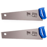 "Bahco 244 22"" Hardpoint Handsaw Medium Cut BAH24422N Pack of 2"
