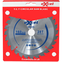 Excel Plunge Saw Blade 160MM 28 Tooth for Wood