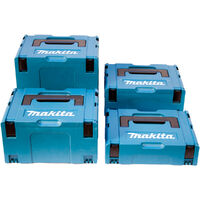 Makita MAKPAC General Purpose Stackable Connector Case 4 Piece Set