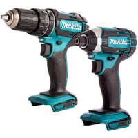Makita 18V 2 Piece Impact Driver & Combi Drill Cordless Body T4TKIT-708 :18V