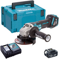 Makita DGA517Z 18V Brushless 125mm Angle Grinder with 1 x 5.0Ah Battery & Charger in Case