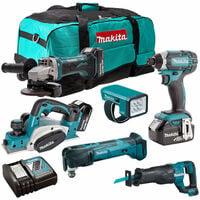 Makita 18V 6 Piece Cordless Power Tool Kit with 3 x 3.0Ah Batteries T4TKIT-230:18V