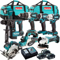 Makita 18V 8 Piece Cordless Kit 3 x 5.0Ah Batteries T4TKIT-308:18V
