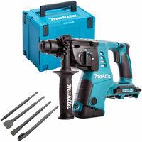 Makita DHR263ZJ 36V SDS+ Rotary Hammer Drill with 4 Piece Chisel Set