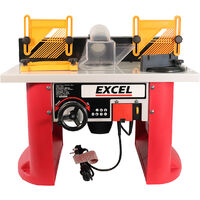 Excel Table Router Cutter 240V with 1/2in Shank Router Cutter Bit 35 Piece Set