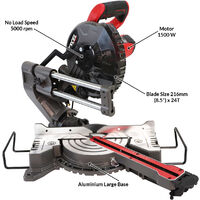 Excel 216mm Mitre Saw 240V Large Base with Laser 1500W Extra 1 x 60T Blade