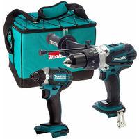 Makita 18V DHP458Z Combi Drill + Makita DTD152Z Impact Driver with Tool Bag
