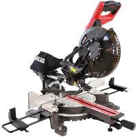 "Excel 10"" 255mm Sliding Mitre Saw Double Bevel 2000W/240V with Laser"