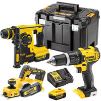 Dewalt 3 Piece 18V Li-ion Kit 2 x 4.0Ah Batteries & Charger T4TKIT-172:18V