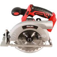 Excel 18V Cordless Circular Saw 165mm Body Only EXL511B:18V