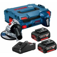 Bosch GWS18V7115KIT 18V Brushless 115mm Angle Grinder with 2 x 4.0Ah Batteries & Charger in L-Boxx