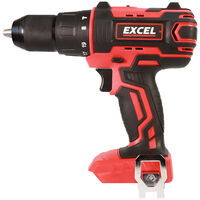 Excel 18V Cordless Combi Drill with 1 x 2.0Ah Battery Charger & Tote Bag EXL558B:18V