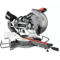 "Excel 12"" 305mm Sliding Mitre Saw Double Bevel 1800W/240V with Laser"