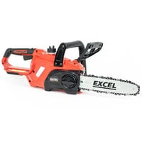 Excel 18V Cordless Chainsaw Wood Cutter 245mm with 1 x 5.0Ah Battery & Charger:18V