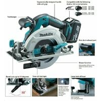 Makita DHS680Z 18V Brushless Circular Saw 165mm Body Only + Guide Rail & Adapter