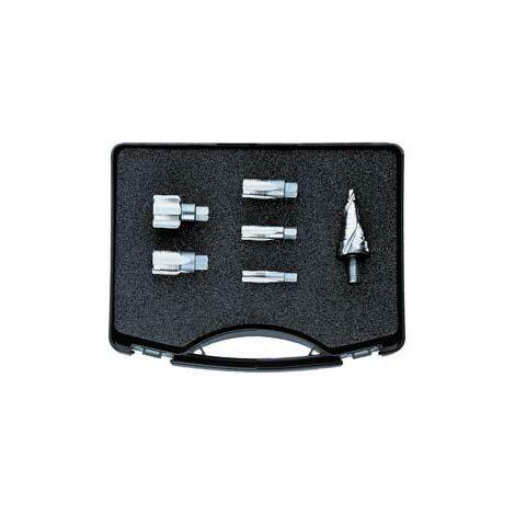 Jeu tarauds ébaucheur/finisseur M12 à M32 x1,5 avec foret étagé 7-32,5mm FORMAT 1 PCS