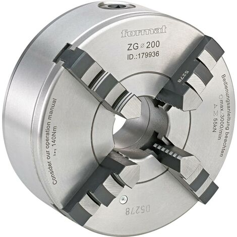 Mandrin de tour à 4 mors DIN6350 fonte 100mm FORMAT 1 PCS