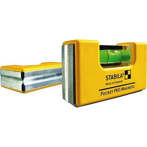 Mini niveau à bulle Pocket ProMagnetic 7cm SB STABILA 1 PCS