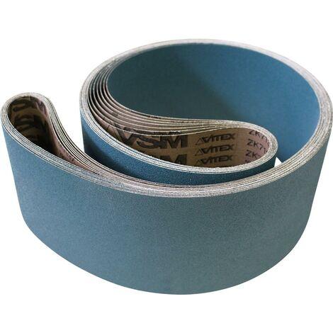VSM 735395 0007682010040 Bande Abrasif C/éramique Grains 40 pour Titane 150 x 2000 mm Rouge