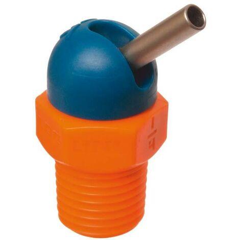 """Buse haute pression CD pour tuyau d'agent réfrigérant 1/4"""" 70bar Ø3x12,7mm bleu-orange LOC-LINE 1 PCS"""