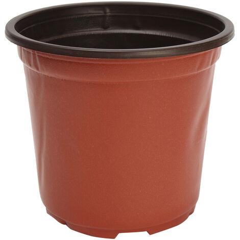 100Pcs Pot De Fleur Rond En Plastique Jardin Plantes Jardinière Balcon Maison15 * 11 * 13.2Cm