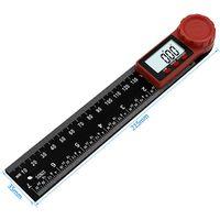 300mm 2 En 1 Règle D'Angle Numérique Affichage à 360 Degrés Pied à Coulisse Rapporteur