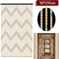 90X195 Cm 41 Ligne En Bois Perle Chaine Porte Rideau Stores Voler écran Pour Porche Chambre Salon Salle De Bains
