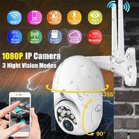 10 LED Caméra IP Securite Surveillance sans Fil 1080P 2.0MP Audio P2P Bidirectionnelle WIFI