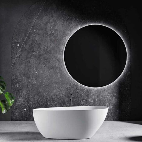 Leafy vasca da bagno freestanding 160 x 70,5 x 63 Gelcoat-Lux® bianco opaco