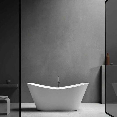 Volo vasca da bagno freestanding 160 x 71 x 64 Gelcoat-Lux® colore bianco opaco